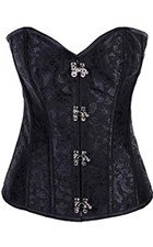 Steampunk Black Brocade Corset