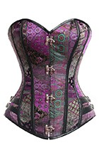 Steel Boned Streampunk Vegan Corset